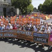 Manifestación en Madrid de afectados de Fórum y Afinsa