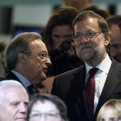 Florentino Pérez y Mariano Rajoy, en el palco del Santiago Bernabéu