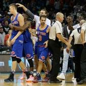 Los Knicks celebran su victoria