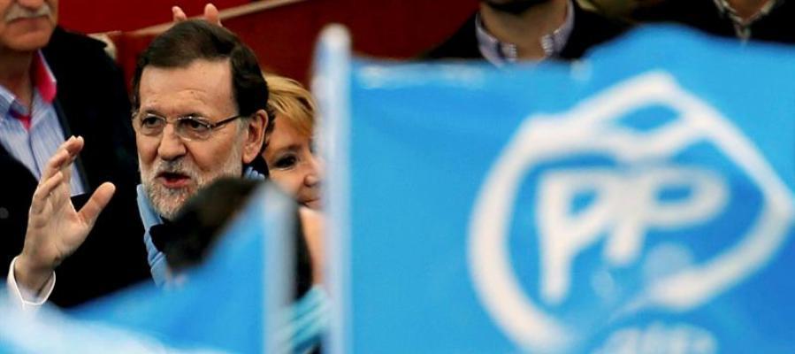 Mariano Rajoy en un acto en las Rozas