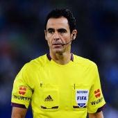 Velasco Carballo durante un partido en Liga