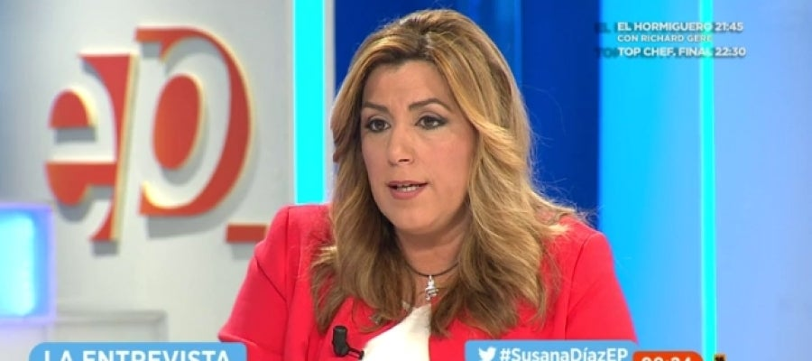 La presidenta de la Junta de Andalucía, Susana Díaz, en Espejo Público