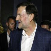 El presidente del Gobierno, Mariano Rajoy, tras la agresión sufrida en Pontevedra