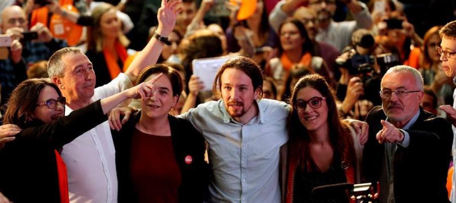 Pablo Iglesias en el cierre de campaña en Valencia