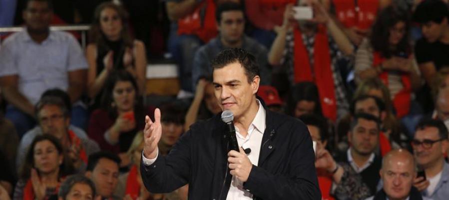 Pedro Sánchez en su cierre de campaña en Madrid