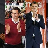 Mariano Rajoy, Pedro Sánchez, Albert Rivera y Pablo Iglesias