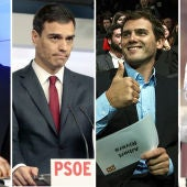 PP, PSOE, Ciudadanos y Podemos