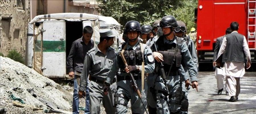 Miembros de los servicios de Seguridad afganos