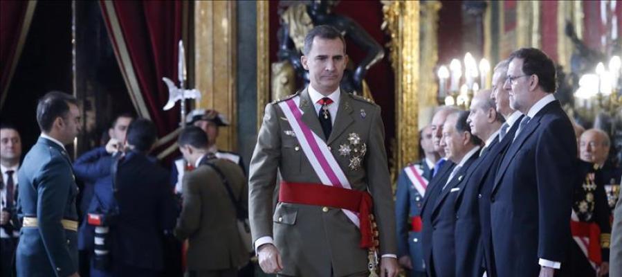 El Felipe VI, en la Pascua Militar 2016.