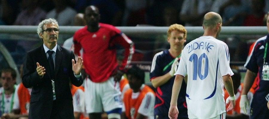 Domenech y Zidane en el Mundial de 2006