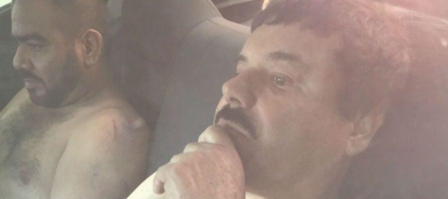 """Primera imagen del narcotraficante Joaquín """"El Chapo"""" Guzmán filtrada a medios locale"""