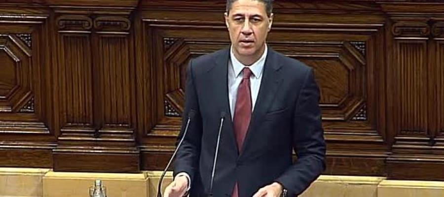 Xavier García Albiol durante su intervención en el pleno de investidura de Cataluña
