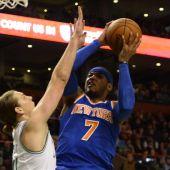 El alero de los Knicks Carmelo Antohony