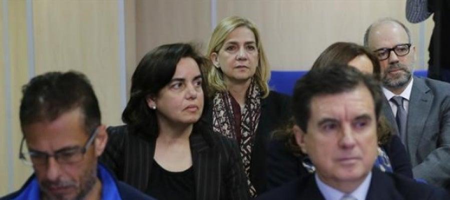 La infanta Cristina en la sala de los juzgados de Palma.