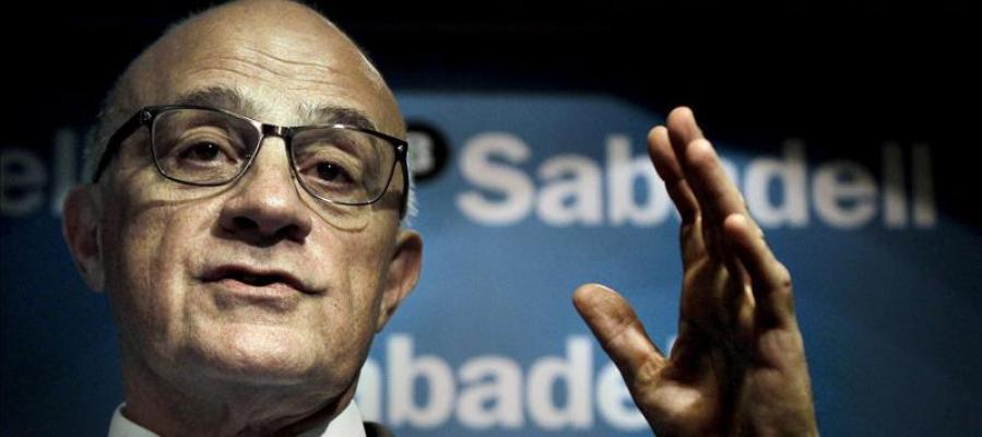 El presidente del Sabadell, Josep Oliu