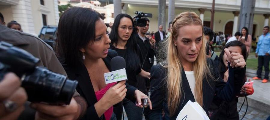 Lilian Tintori, esposa del líder opositor preso Leopoldo López