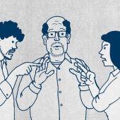 """""""Los conflictos pueden solucionarse hablando unos con otros con la ayuda de otras personas (mayores, asistentes...)"""""""