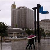 Lluvia en el centro de Málaga