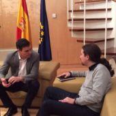 Pedro Sánchez se reúne con Pablo Iglesias