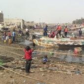 Puerto de Saint Louis. Senegal.