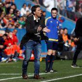 Rubi, entrenador del Levante, durante el partido ante el Barcelona