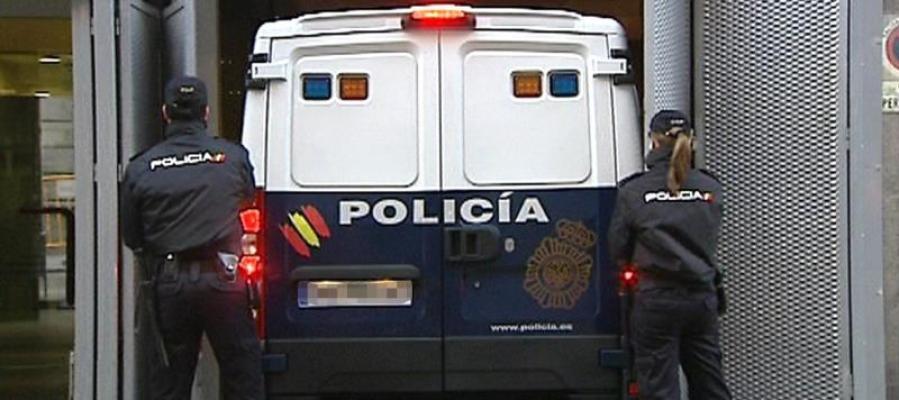 Un furgón policial a su llegada a la Audiencia Nacional