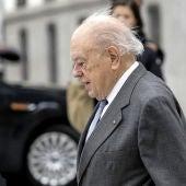 El expresident catalán, Jordi Pujol, a su llegada a la sede de la Audiencia Nacional