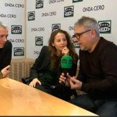 Irene Escolar y Jordi Frade durante la última pregunta de Juan Ramón Lucas