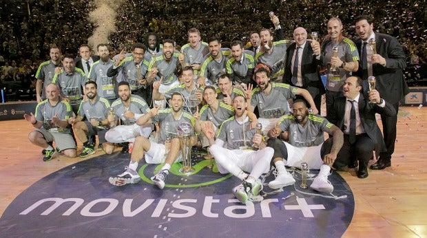 El Real Madrid Baloncesto celebra la Copa del Rey