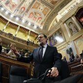 Rajoy en el Congreso durante el debate de investidura