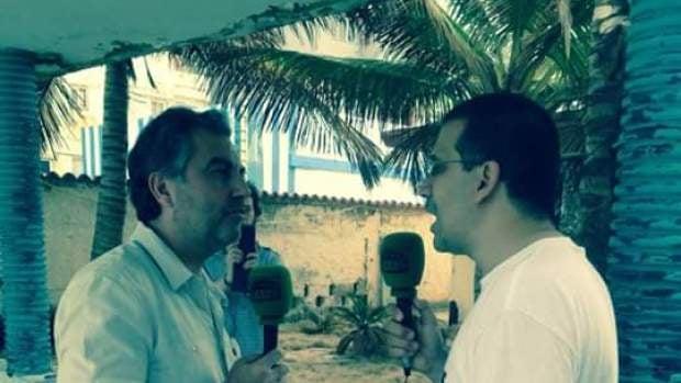 Carlos Alsina con el disidente Antonio Rodiles.