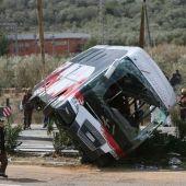 Autobús accidentado en Tarragona