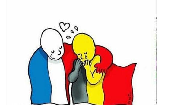 Solidaridad en redes sociales con el hashtag #JeSuisBruxelles