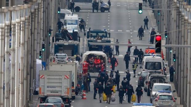 Imágenes de una jornada de terror en Bruselas