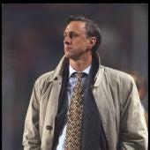 Johan Cruyff, en su etapa de entrenador del Barcelona
