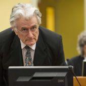 exlíder serbobosnio Radovan Karadzic durante su juicio