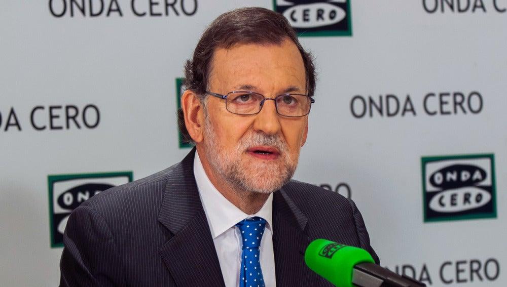 Mariano Rajoy en los estudios de Onda Cero