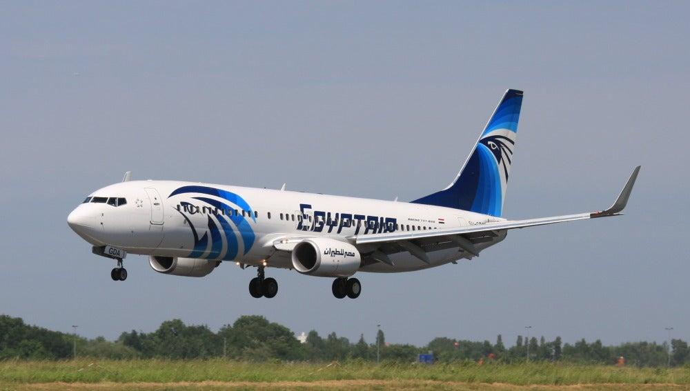 Imagen de un avión de Egyptair