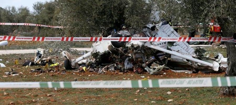Accidente de avioneta en Perales de Tajuña