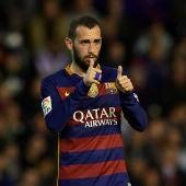 Aleix Vidal durante un partido con el Barcelona