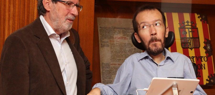 Adolfo Barrena y Pablo Echenique
