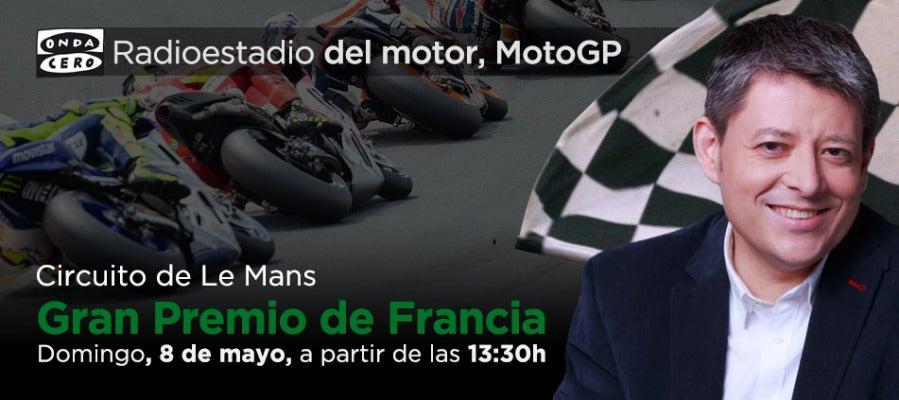 Gran Premio de Franca de MotoGP en radioestadio del motor