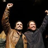 Pablo Iglesias y Alberto Garzón.
