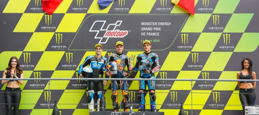 Podio del GP de Francia de Moto 3