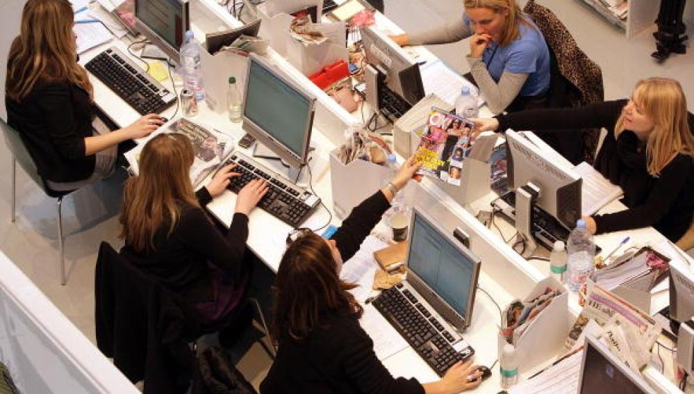 Mujeres trabajando.