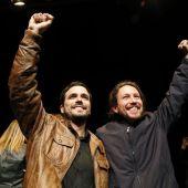 Elecciones generales 2019: Pablo Iglesias y Alberto Garzón, tras el preacuerdo electoral.