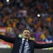 Luis Enrique celebra la Copa del Rey