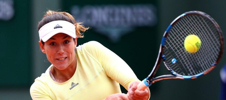 Garbiñe Muguruza en Rolland Garros