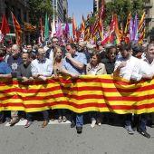 Manifestación en Barcelona contra las medidas del Gobierno