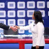 Fujimori y Kuczynski, el el debate.
